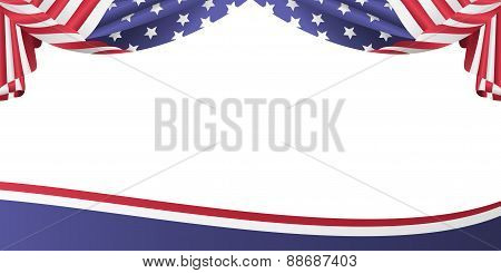 USA patriotic flag bunting banner