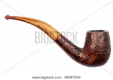 Old Wooden Tobacco Pipe