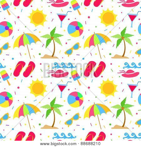 Summer elements seamless pattern