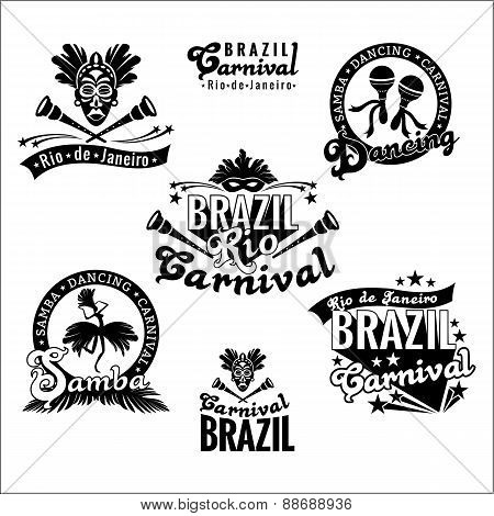 Brazilian Carnival. Big Set Of Brazilian Templates.