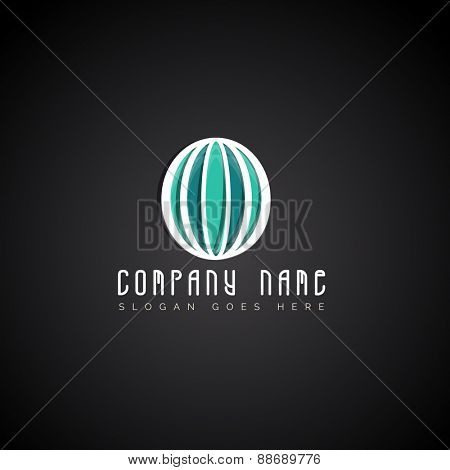Creative stylish business symbol for your company and organization.