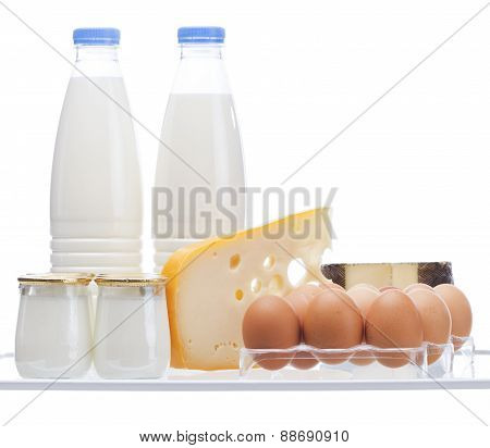 Dairies Isolated On White