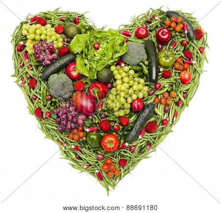 I Love Vegetables And Fruit