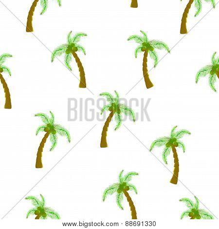 Seamless palm tree pattern
