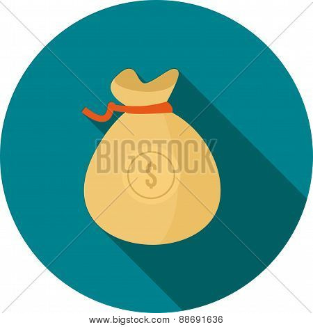 Dollar Currency With Bag