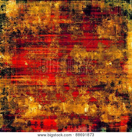 Old texture as abstract grunge background. With different color patterns: yellow (beige); brown; pink; red (orange)