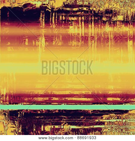Old texture as abstract grunge background. With different color patterns: yellow (beige); purple (violet); cyan; pink