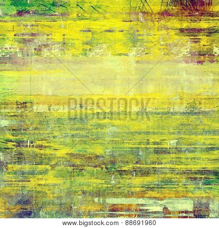 Old Texture or Background. With different color patterns: yellow (beige); brown; purple (violet); green