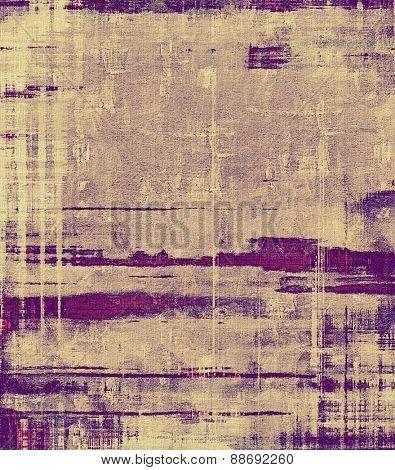 Old, grunge background texture. With different color patterns: yellow (beige); gray; purple (violet)