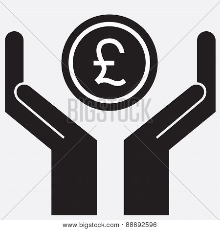 Hand showing pound sign.