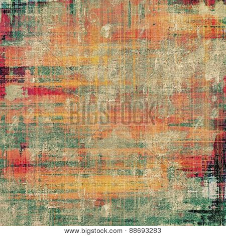 Abstract grunge background or old texture. With different color patterns: yellow (beige); gray; green; red (orange)