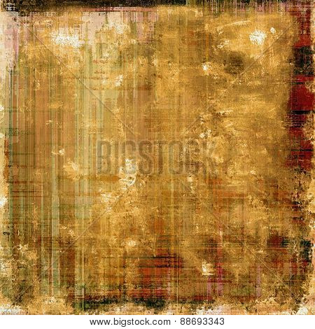 Abstract grunge background of old texture. With different color patterns: yellow (beige); brown; gray