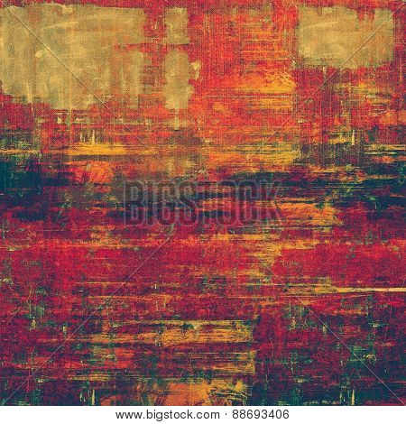 Background in grunge style. With different color patterns: brown; purple (violet); pink; green; red (orange)