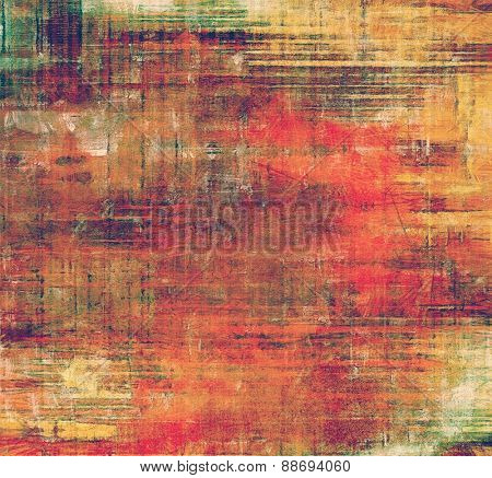 Antique vintage background. With different color patterns: yellow (beige); brown; green; red (orange)