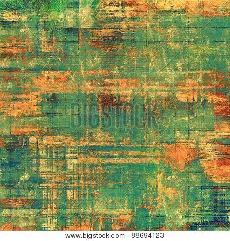 Old texture - perfect background with space for your text or image. With different color patterns: yellow (beige); brown; green; blue