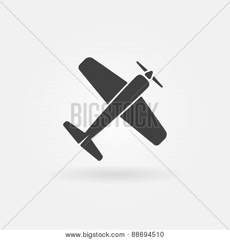 Airplane vector symbol or icon