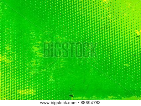 Grunge background with paper texture of green color