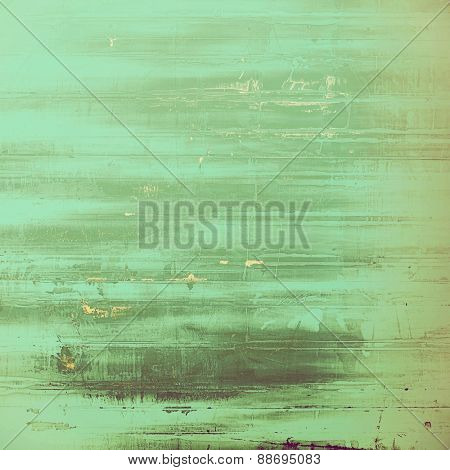 Retro background with grunge texture. With different color patterns: brown; gray; cyan; green