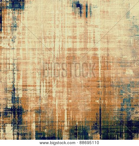 Old retro vintage texture. With different color patterns: yellow (beige); brown; gray; blue