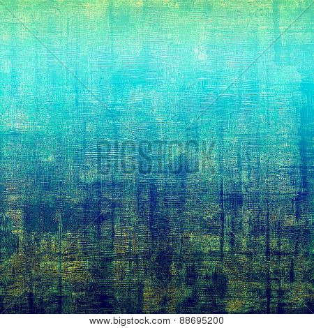 Grunge texture or background with space for text. With different color patterns: brown; green; blue; cyan