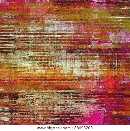 Ancient grunge background texture. With different color patterns: purple (violet); pink; green; red (orange)