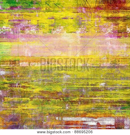 Colorful designed grunge background. With different color patterns: yellow (beige); green; purple (violet); pink