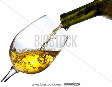 Sweet Wine Isolated  On White Background