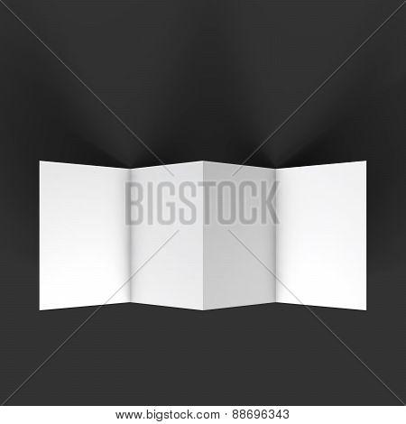 Zigzag four brochure mockup template.