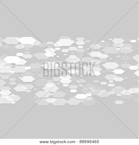 Vector abstract 3d hexagonal