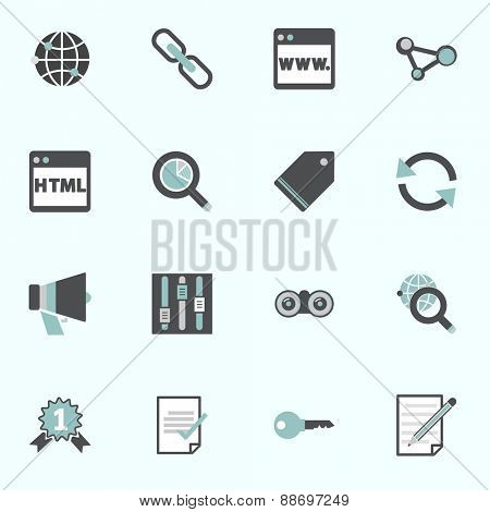 Search Engine Optimization Information Content Icon Concept
