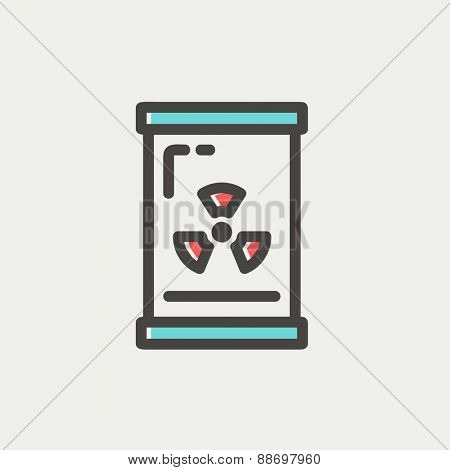 Glass with propeller icon thin line for web and mobile, modern minimalistic flat design. Vector icon with dark grey outline and offset colour on light grey background.