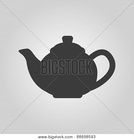 The Teapot Icon. Tea Symbol. Flat