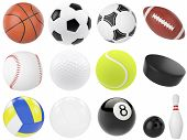 image of bowling ball  - Set of sports balls - JPG