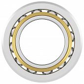 foto of friction  - Isolated realistic bearing on a white background with light scratches - JPG