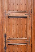Weathered Door With Metal Handle