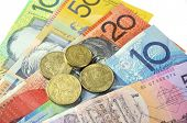 image of year end sale  - Australian Money concept for savings spending or 30th June End of Financial Year sale. ** Note: Shallow depth of field - JPG