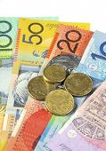 picture of year end sale  - Australian Money concept for savings spending or 30th June End of Financial Year sale. ** Note: Shallow depth of field - JPG