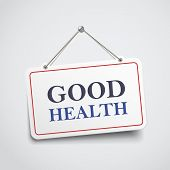 pic of take responsibility  - good health hanging sign isolated on white wall - JPG