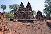 picture of hindu temple  - The ruins of the temple Banteay Srei in Angkor Wat Siem Reap Cambodia - JPG