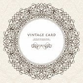foto of greeting card design  - Decorative ornate frame in Victorian style - JPG
