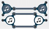 pic of text-box  - Two vector abstract text boxes for your text and music icon - JPG