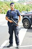 stock photo of special forces  - Italian special military police force carabinier on duty - JPG