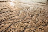 stock photo of shoreline  - close up of the shoreline on a tropical thai beach - JPG