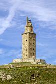 image of hercules  - Hercules tower La Coruna Galicia Spain UNESCO - JPG
