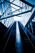 picture of escalator  - escalator of modern office building - JPG