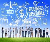 picture of insurance-policy  - People Discussion Meeting Safety Risk Business Insurance Concept - JPG