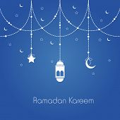 stock photo of ramazan mubarak card  - Holy month of muslim community - JPG