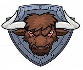 stock photo of bull head  - Illustration of the bull - JPG