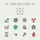 picture of flat-foot  - Ecology thin line icon set for web and mobile - JPG