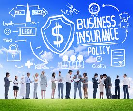 stock photo of risk  - People Discussion Meeting Safety Risk Business Insurance Concept - JPG